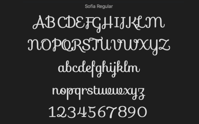 Sofia Regular Handwritten Font