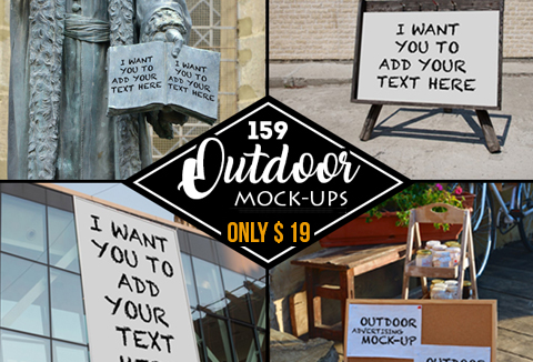 Business Mockups: 159 Outdoor Mock-ups